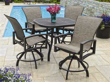Homecrest Havenhill Counter Sling Aluminum Dining Set