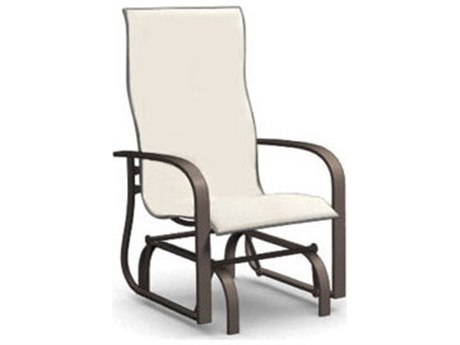 Homecrest Holly Hill Sling Aluminum Arm Glider Dining Chair