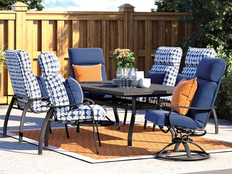 Homecrest Holly Hill Cushion Aluminum Dining Set