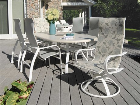 Homecrest Holly Hill Sling Aluminum Dining Set