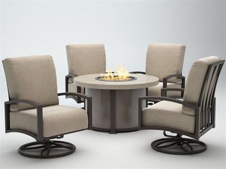 Homecrest Havenhill Cushion Aluminum Fire Pit Lounge Set