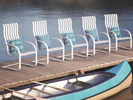 Homecrest Lana Aluminum Spring Dining Chair Set