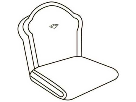 Homecrest Liberty Garden Victoria High Back Dining Chair Replacement Cushions
