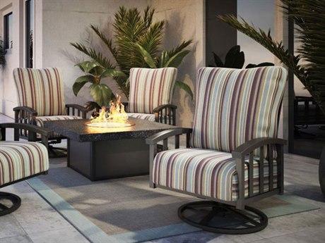Homecrest Liberty Aluminum Fire Pit Lounge Set