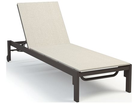 Homecrest Allure Quick Ship Aluminum Sling Adjustable Chaise Lounge with Wheels