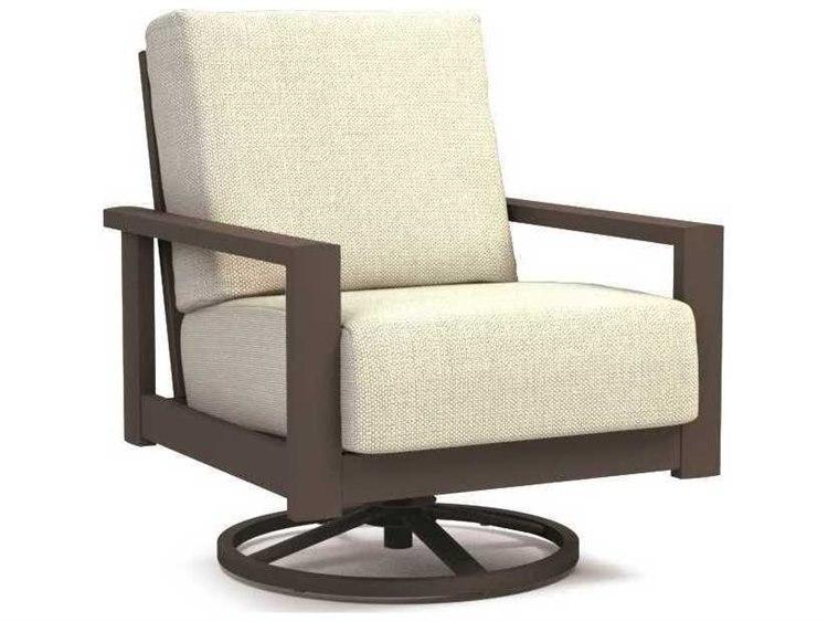 Homecrest Elements Cushion Quick Ship Aluminum Swivel Rocker Chat Chair