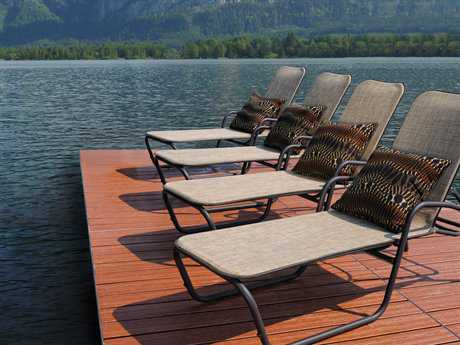Homecrest Holly Hill Sling Aluminum Chaise Lounge Set for 4