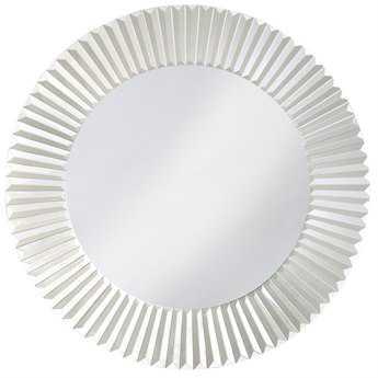 Howard Elliott Torino 30 Round White Wall Mirror