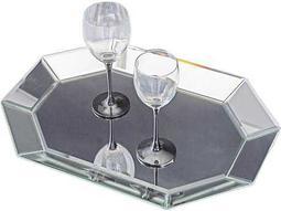 Howard Elliott Octagonal Decorative Mirrored Tray