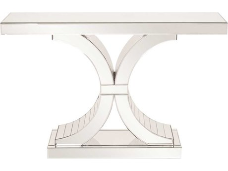 Howard Elliott Capella 46 x 13 White Mirrored Console Table