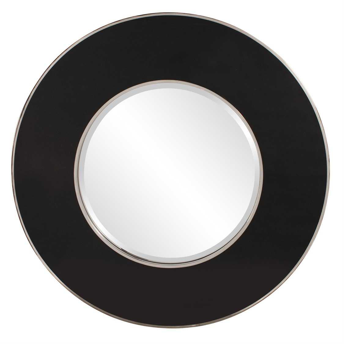 Howard elliott regent 42 round black wall mirror he11156 for Round black wall mirror