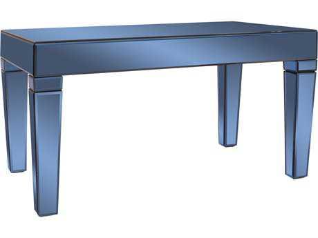 Howard Elliott Dorset 36 x 21 Rectangular Cobalt Blue Mirrored Coffee Table