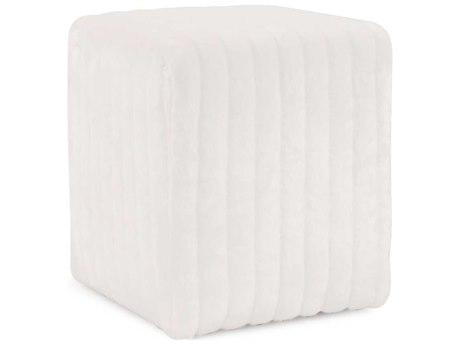 Howard Elliott Mink Snow Universal Cube Ottoman
