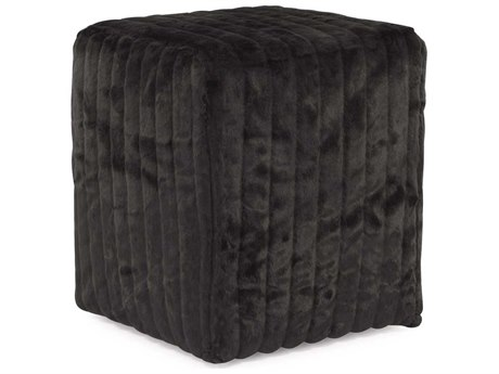Howard Elliott Mink Black Universal Cube Ottoman