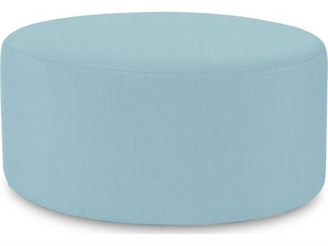 Howard Elliott Universal 36 Round Sterling Breeze Ottoman
