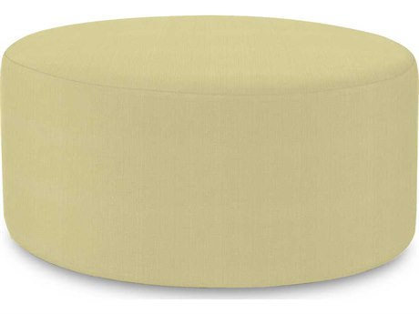 Howard Elliott Universal 36 Round Sterling Willow Ottoman