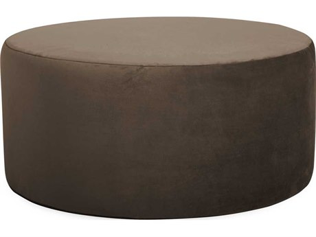 Howard Elliott Universal 36 Round Bella Chocolate Ottoman
