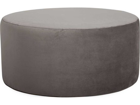 Howard Elliott Universal 36 Round Bella Pewter Ottoman