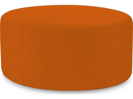 Howard Elliott Universal 36 Round Sterling Canyon Ottoman