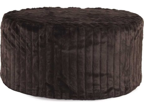 Howard Elliott Mink Brown Universal 36'' Round Ottoman