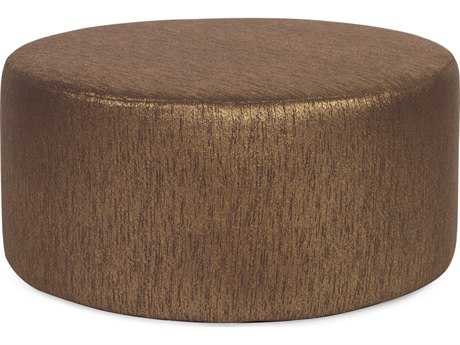 Howard Elliott Glam Chocolate Universal 36'' Round Ottoman