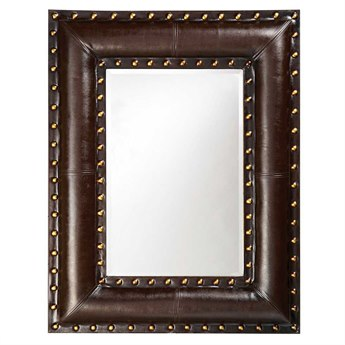Howard Elliott Palermo 35 x 45 Brown Wall Mirror