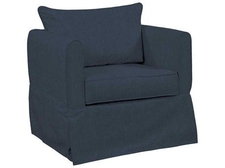 Howard Elliott Alexandria Sterling Indigo Club Chair