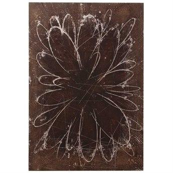 Howard Elliott Abstract Flower 24 x 36 Brown Painting