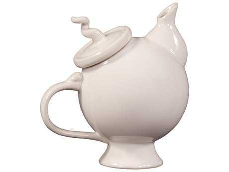 Howard Elliott Whimsical 9 x 9 White Tea Pot