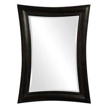 Howard Elliott Fairmont 34 x 45 Black Wall Mirror