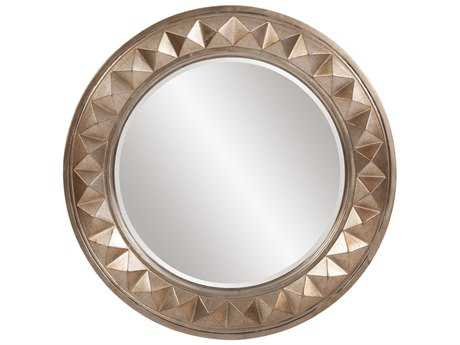 Howard Elliott Fantasia 32 Round Silver Leaf Wall Mirror