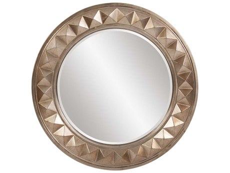 Howard Elliott Fantasia 32 Round Silver Leaf Wall Mirror