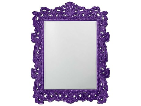 Howard Elliott Napoleon 63 x 85 Glossy Royal Purple Wall Mirror