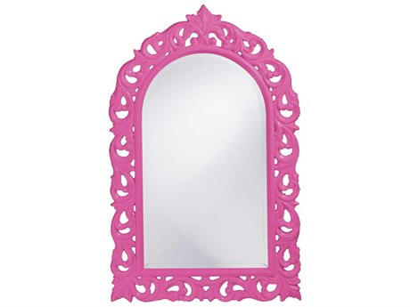 Howard Elliott Orleans 30 x 47 Glossy Hot Pink Wall Mirror