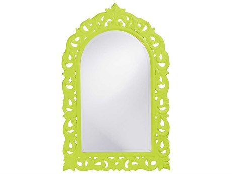 Howard Elliott Orleans 30 x 47 Glossy Moss Green Wall Mirror