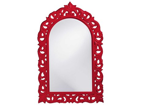 Howard Elliott Orleans 30 x 47 Red Wall Mirror