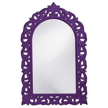 Howard Elliott Orleans 30 x 47 Royal Purple Wall Mirror