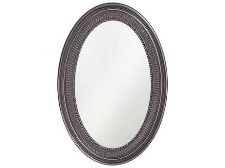 Howard Elliott Ethan 21 x 31 Glossy Charcoal Grey Wall Mirror