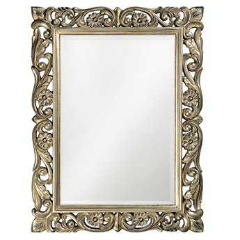 Howard Elliott Chateau 31 x 41 Antique French Pewter Wall Mirror