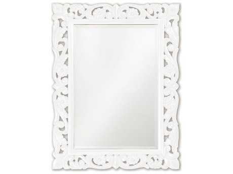 Howard Elliott Chateau 31 x 41 White Wall Mirror