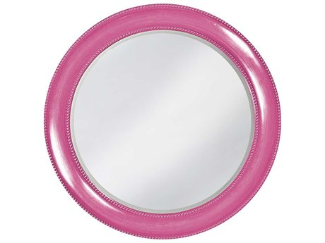 Howard Elliott Saturn 40 Round Glossy Hot Pink Wall Mirror