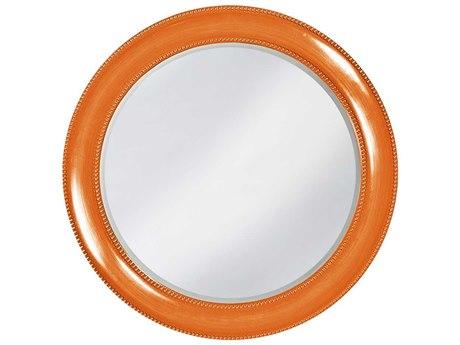Howard Elliott Saturn 40 Round Glossy Orange Wall Mirror