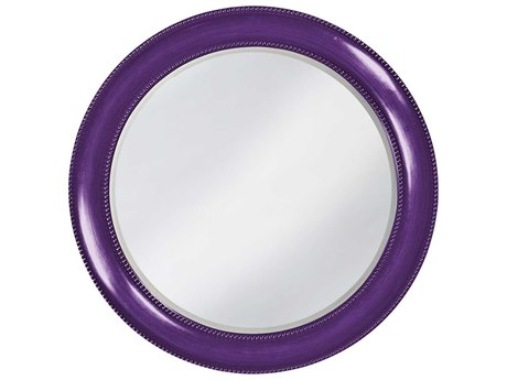 Howard Elliott Saturn 40 Round Glossy Royal Purple Wall Mirror