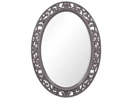 Howard Elliott Suzanne 27 x 37 Glossy Charcoal Grey Wall Mirror
