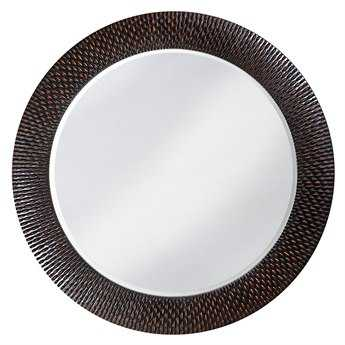 Howard Elliott Bergman 54 Round Black Wall Mirror