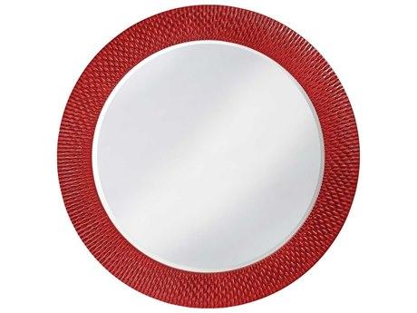 Howard Elliott Bergman 54 Round Glossy Red Wall Mirror