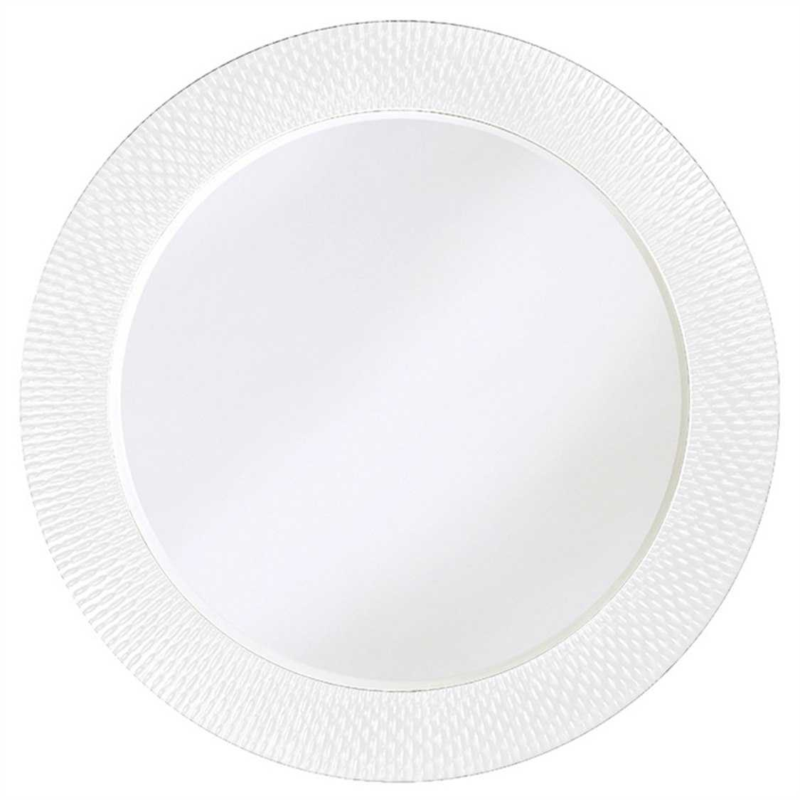 Howard elliott bergman 54 round white large wall mirror for Large white round mirror