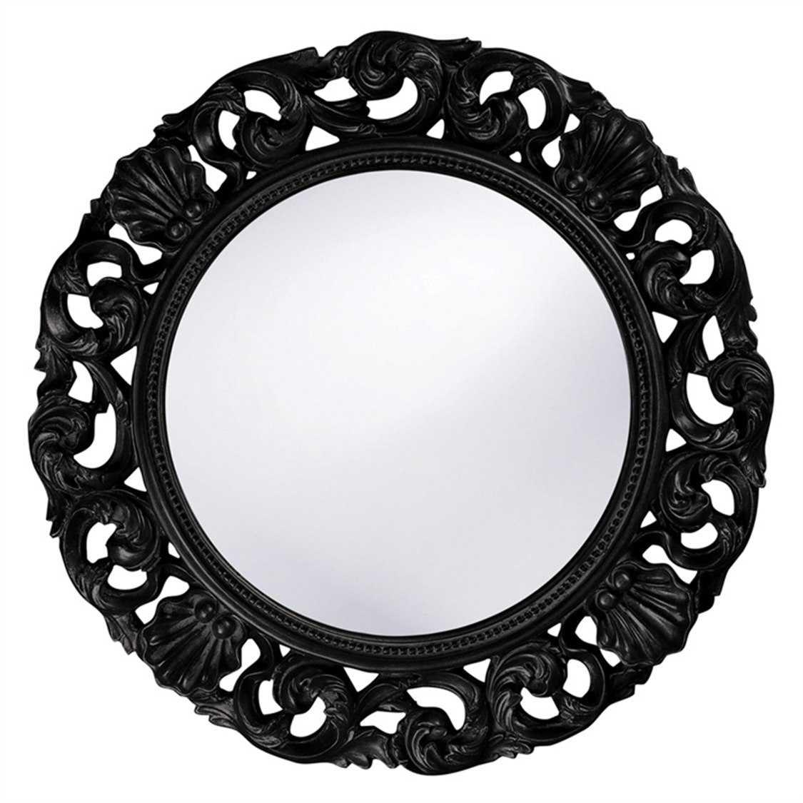 Howard elliott glendale 26 round black wall mirror he2170bl for Round black wall mirror