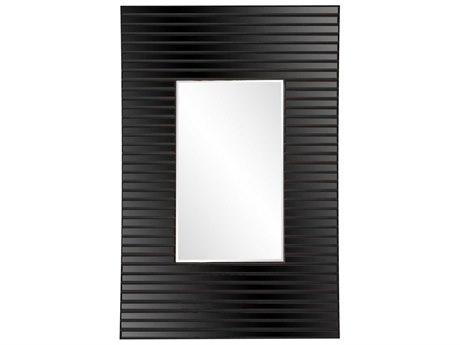 Howard Elliot Edge 21'' W x 36'' H Black Wall Mirror