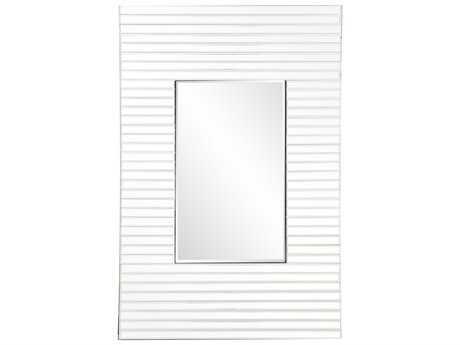 Howard Elliot Edge 21'' W x 36'' H White Wall Mirror